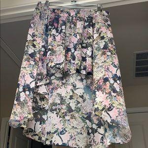 Flowing Floral Skirt